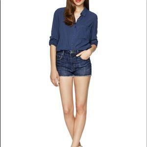 Aritzia Talula Denim High Waisted Jean Shorts